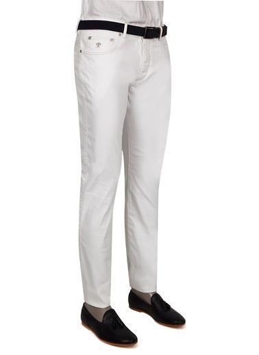 Damat Jean Pantolon Beyaz
